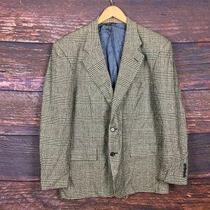 Vintage 70's men's houndstooth plaid sport coat